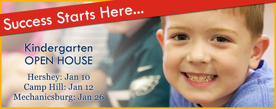 Kindergarten 2017-2018 Open House in Hershey, Mechanicsburg, and Camp Hill