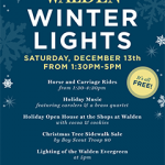 Walden Winter Lights Event