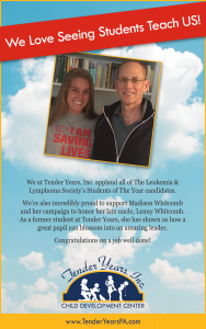 LLS Student of The Year candidate Madison Whitcomb