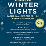 Walden Winter Lights Event