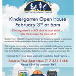 Kindergarten 2015-2016 Open House at Tender Years Child Development Center in Hershey, PA