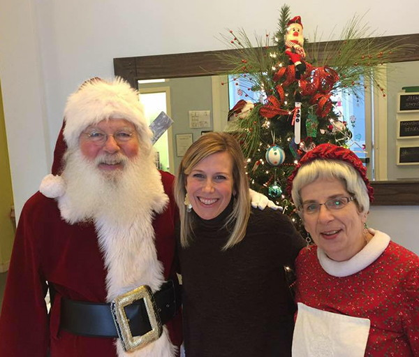 Santa & Mrs. Claus with Kim Shearer, Executive Director