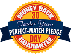 Tender Years Perfect Match Pledge 30-Day Money Back Guarantee