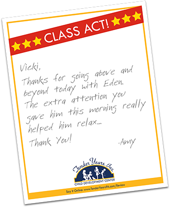 Tender Years Class Act Recognition